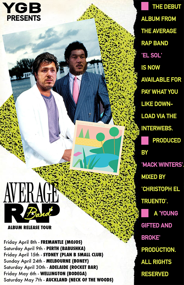 average rap band tour poster.png