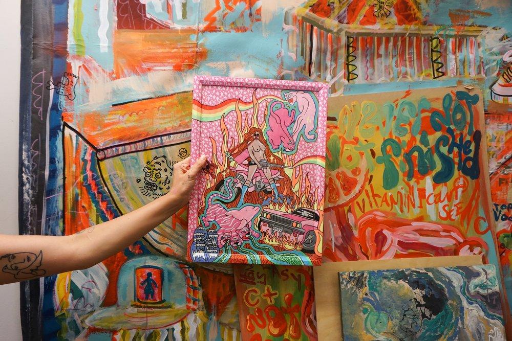 Above: Shelley's work at Wabi Sabi Gallery