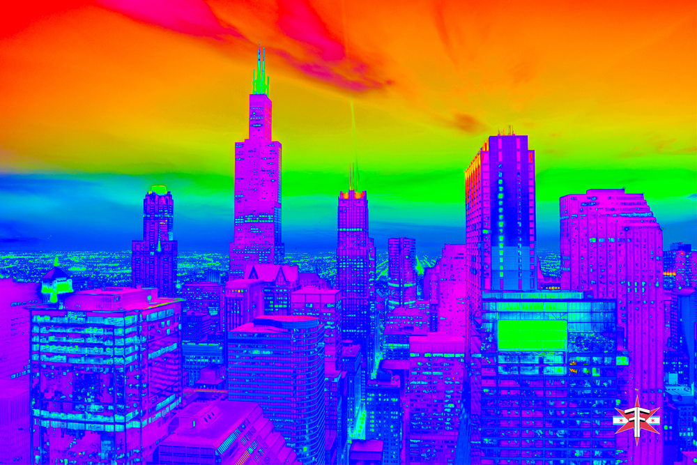chicago downtown loop sears tower hancock buildings towers trippy vibrant colors abstract skyline cityscape eric formato formatografia fotografia arte photography color photography fine art design-23.jpg