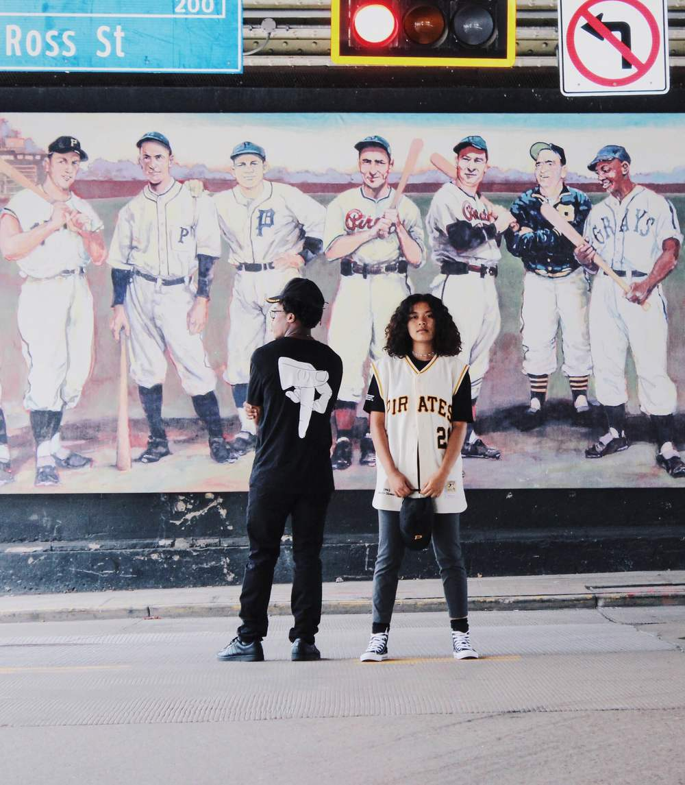 "Hannibal Hopson and Rieko Copeland in John Geiger's ""Pixburgh Merch"" documented by Alex Young"