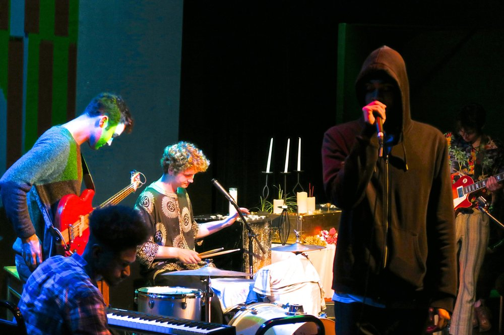 Tedy Brewski and RobSmokesBands Funk Disaster (left to right: Joe Wilson, Sam Catherman, Rob Stokes and Jack Delamater) photographed by Maxwell Young