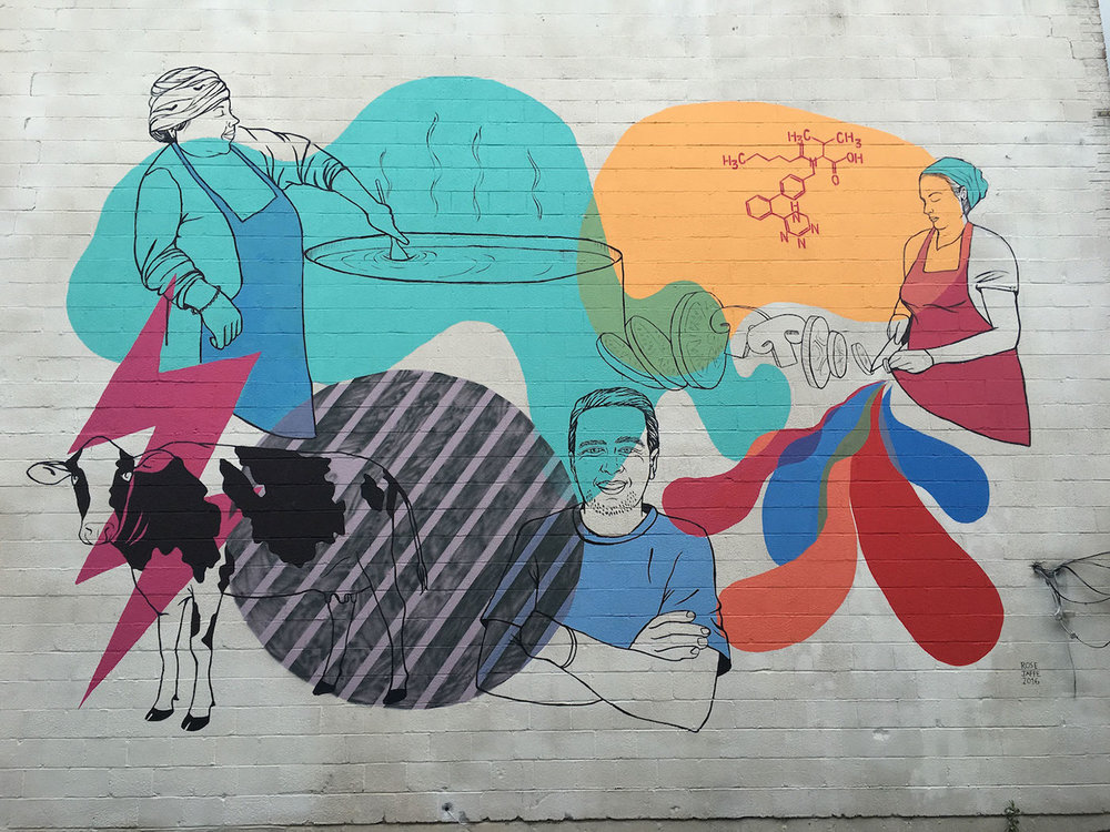 The TasteLab DC Mural