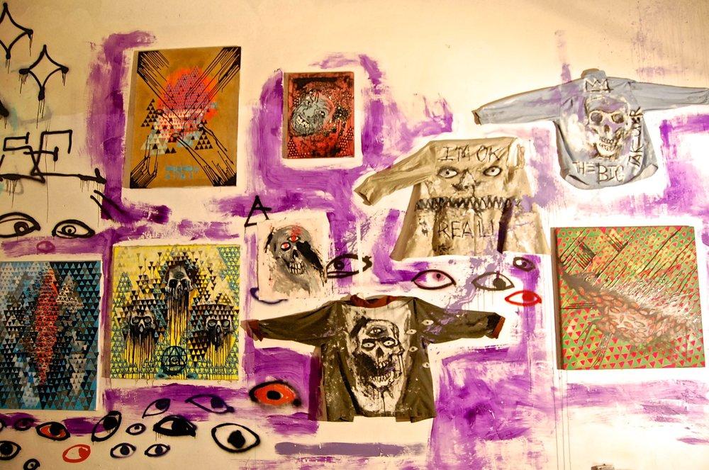 Art & Design by Mensa A. Kondo's for hissolo exhibition 12:21.