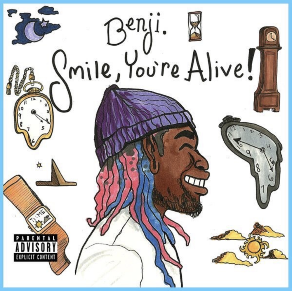 "Benji's ""Smile, You're Alive!"" cover art by Yung Mulatto"