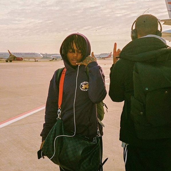 J.I.D left Christo right via  J.I.D's  Instagram