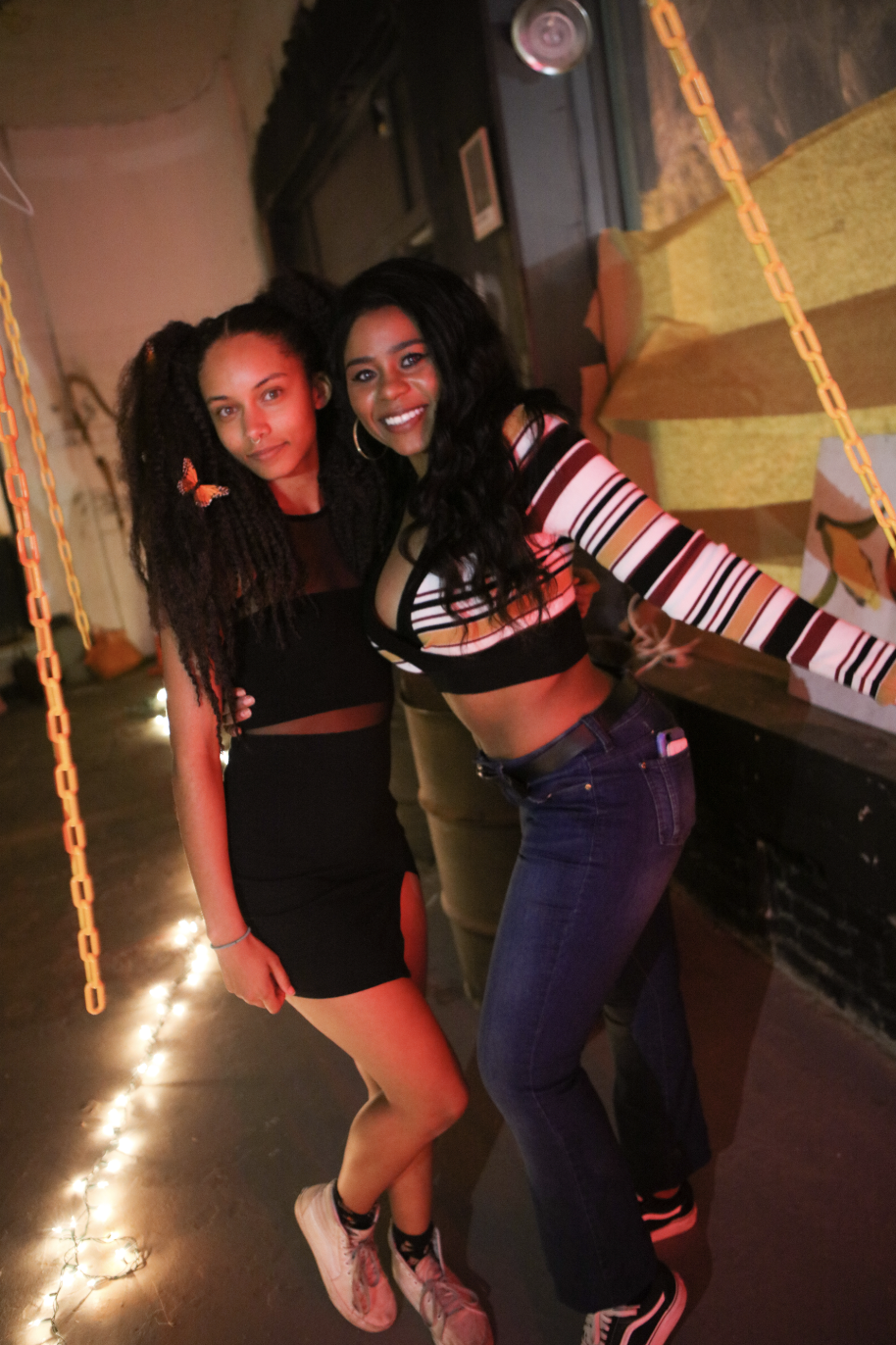 Maliyeah Grant (left) at WVAU's prom in April 2018. Photos by Jason Brandon