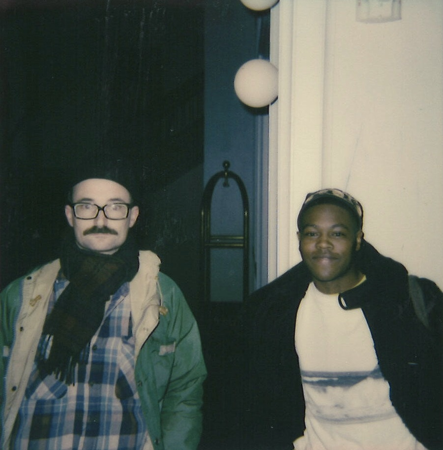 Pat Cain (left) & NAPPYNAPPA (right) of  Model Home  | Polaroid by Maxwell Young