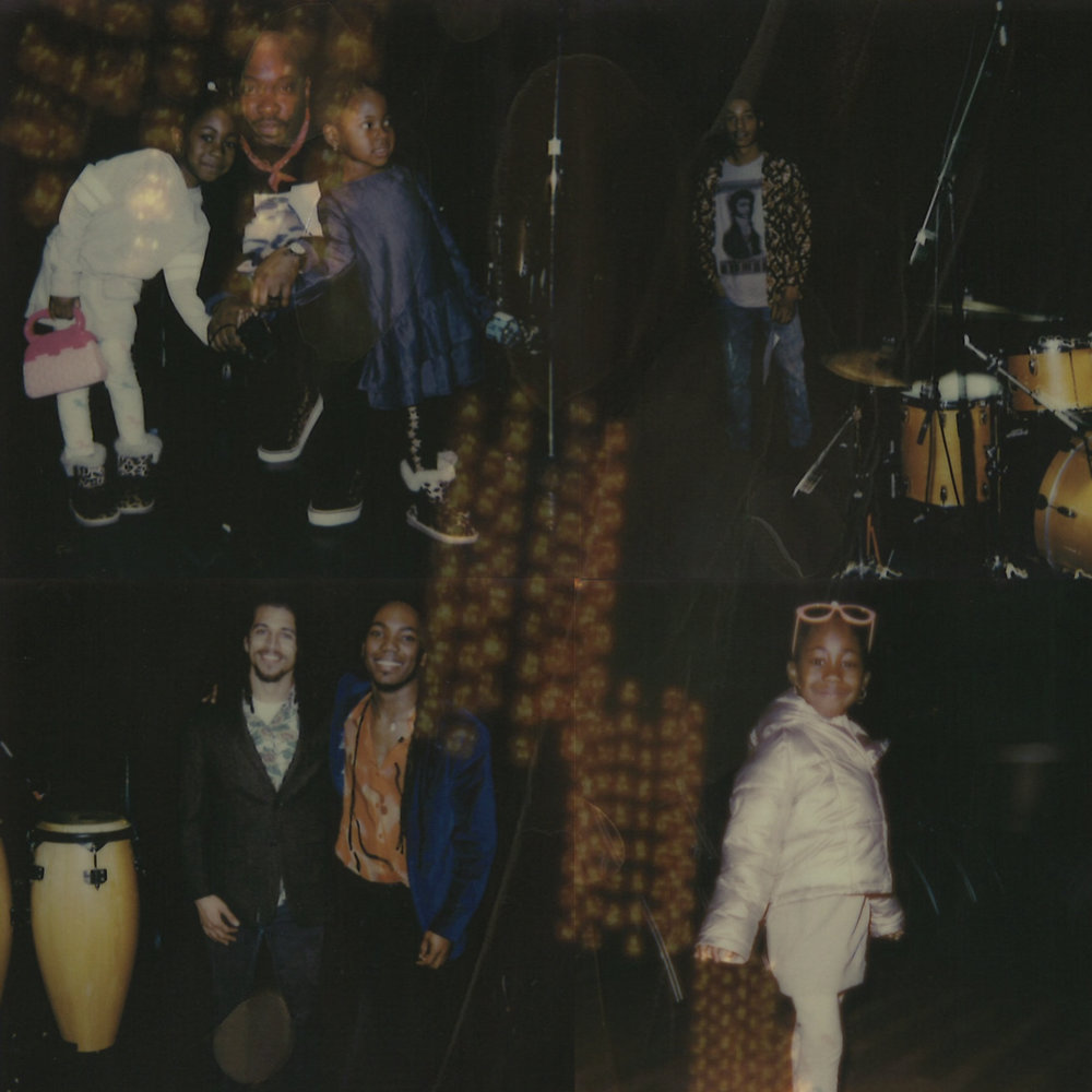 Band members and family of Nag Champa Art Ensemble following their performance   Home: A Suite for Gil Scott-Heron   .  Polaroids by Maxwell Young
