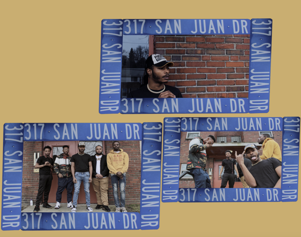 Top Photo: Woolane; Bottom Left Photo: Chino Bandz, Haze, Woolane, Tre87, YungDrip; Bottom Right Photo: Haze, Chino Bandz, Tre87, Woolane, YungDrip