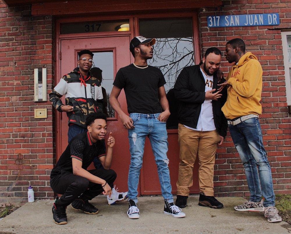 Haze, Chino Bandz, Woolane, Tre87, YungDrip | Photo by Alex Young