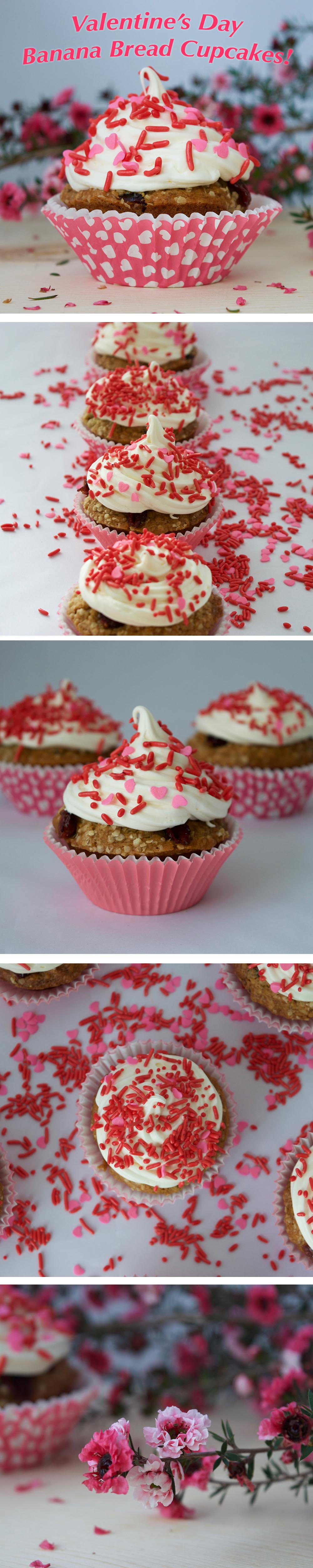 valentines day banana bread muffin treat cupcakes