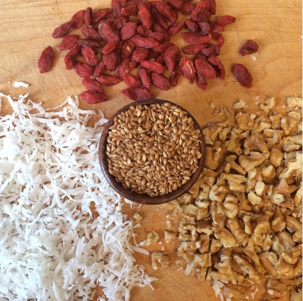 Get healthy by adding dried goji berries, coconut shreds, chopped walnuts or flax seeds to any of our mixes. We love how the Banana Bread Mix turns out with a pop of color from dried goji!