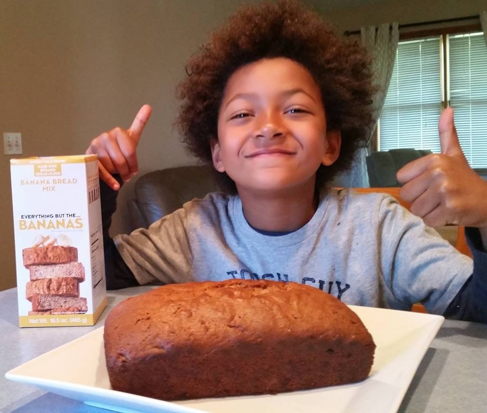 Benjamin loves Cherryvale Farms banana bread copy.jpg