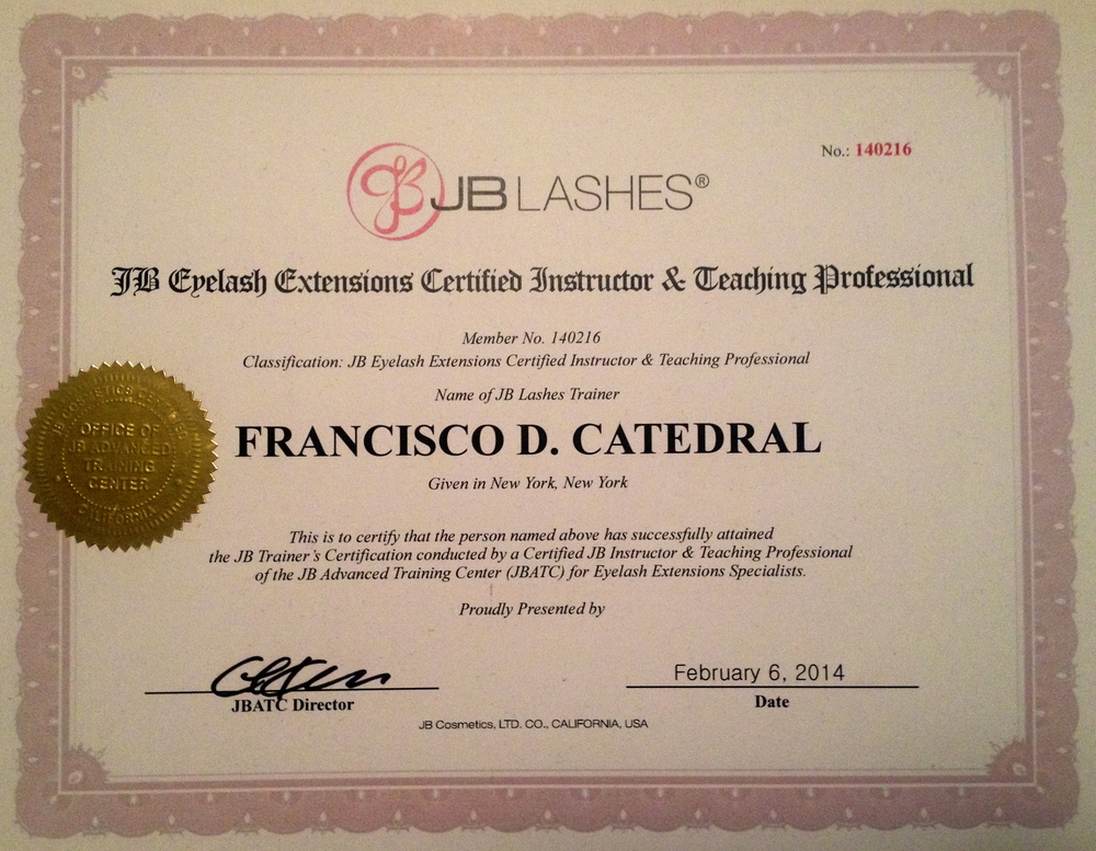 francisco catedral the lash and beauty studio jb lashes ...
