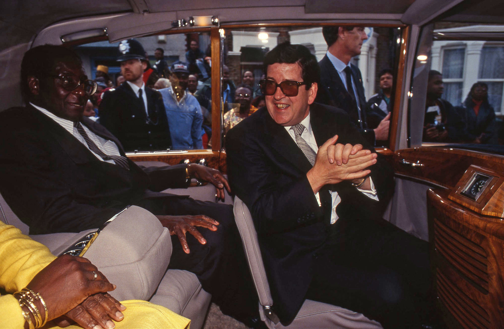 Robert Mugabe (with Foreign Office Rep), President of Zimbabwe. London 1994