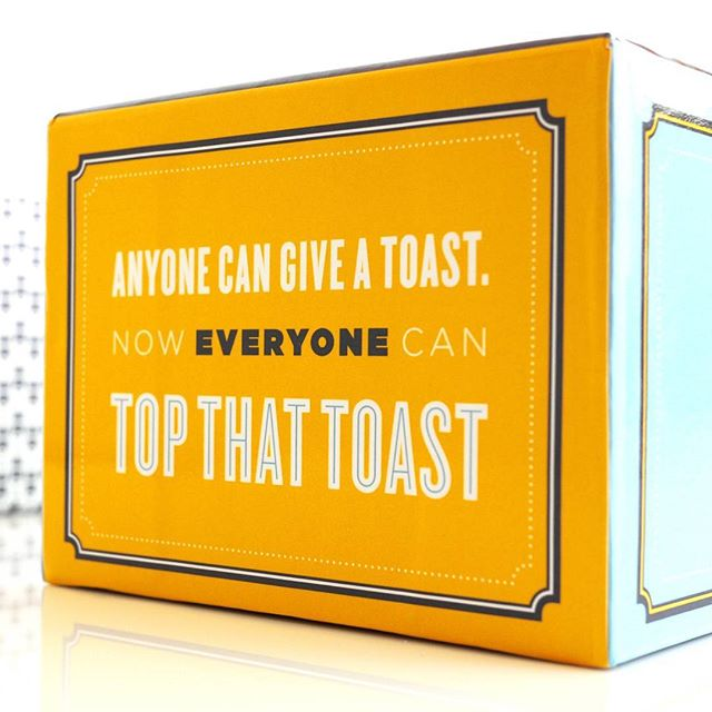 Anyone can give a toast. But who can really Top That Toast? Tag a friend who you think you can top! . . . . #topthattoast #bestie #challenge #gamenight #houseparty #friendsnight