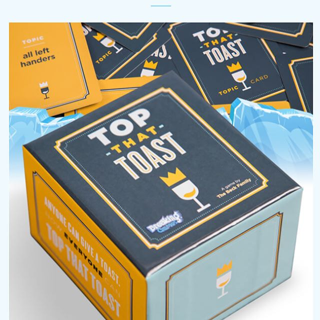 We've been quiet for a bit, but it's been for good reason. Today, we're happy to announce Top That Toast is a @breaking_games title! Cheers to a wonderful partnership. And check out their link this weekend for a deal on a variety of games 🍾🎺🔥