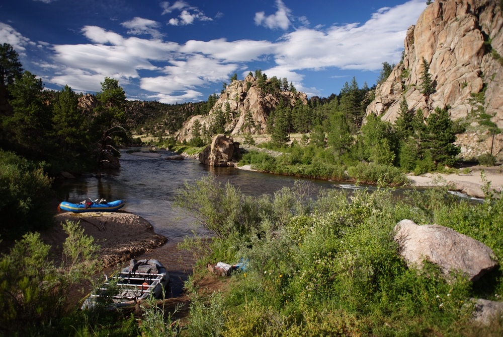 The Arkansas River running through Browns Canyon Monument is definitely one of the jewels of the area.  Did a quick overnight float with friends, dogs and beer over the Summer once the Spring melt levels had subsided.