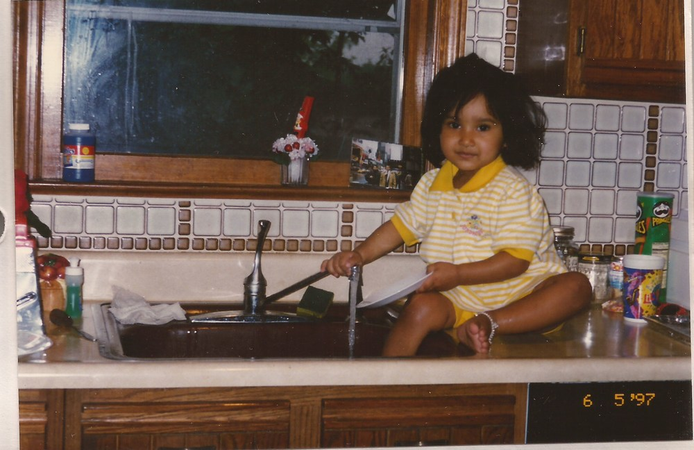 already in the kitchen at a young age