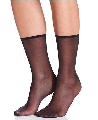 Sheer Black Anklet Socks
