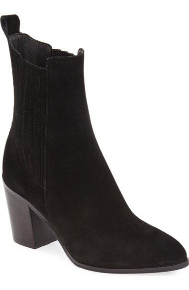 Black High Ankle Bootie
