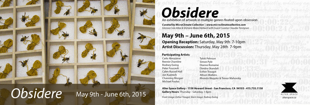 SOME OF MY TEXTILE WORKS (CLOSET STUDIES) ARE IN A GROUP SHOW IN SAN FRANCISCO.