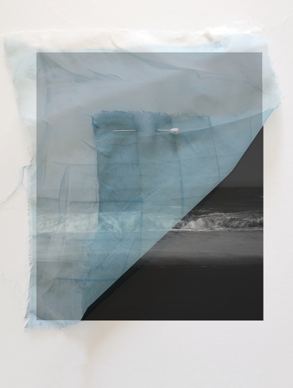 Cyanotype and Ocean, Archival Pigment Print, 2015