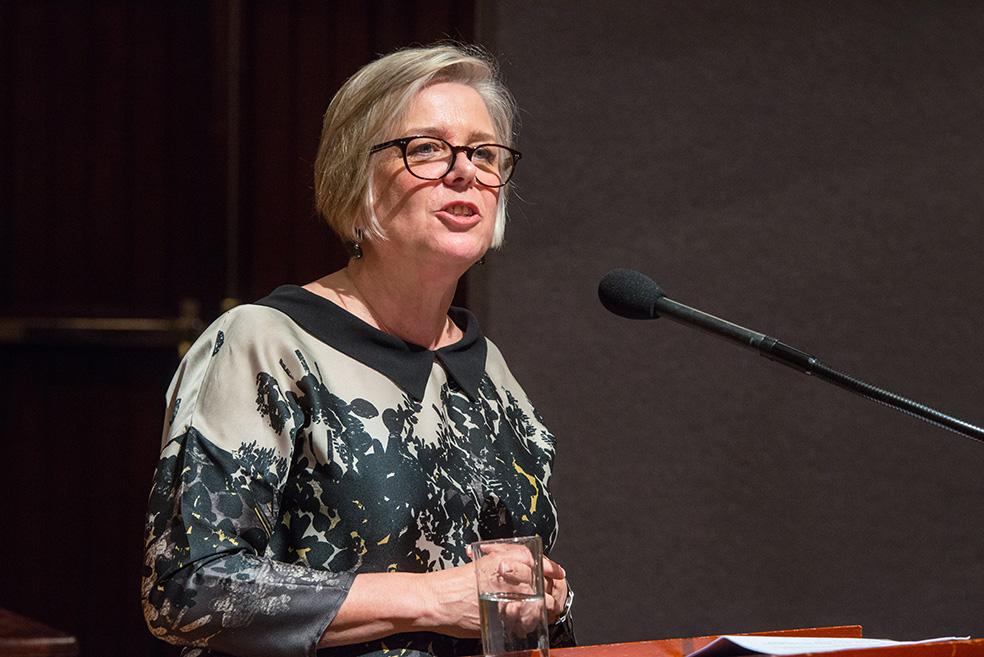 Anne Hywood addresses the dinner gathering