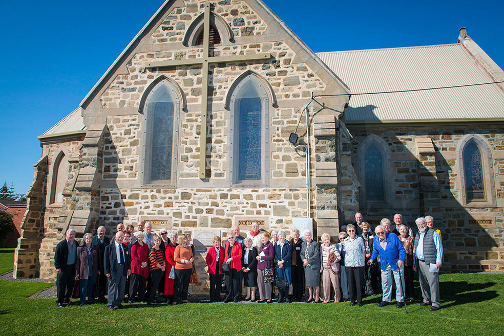 The St Agnes Church congregation today