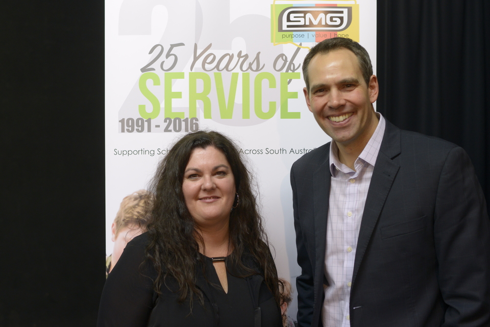 Angela Jolly, SMG Executive Director and Brenton Ragless, Channel 9 Presenter.