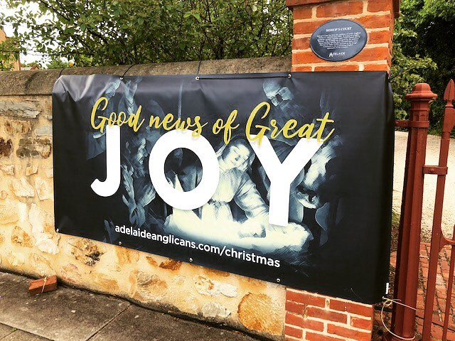 The JOY banner spotted hanging outside Bishop's Court! 👀 #joy #Christmas