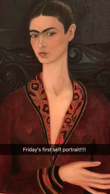 Frida's first self portrait