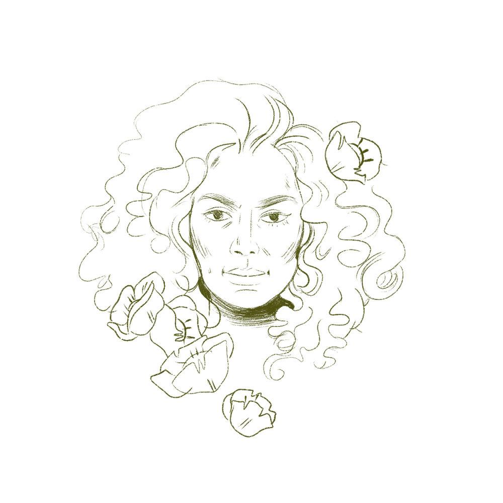 Janet Mock , Illustration /  Grace Stamps
