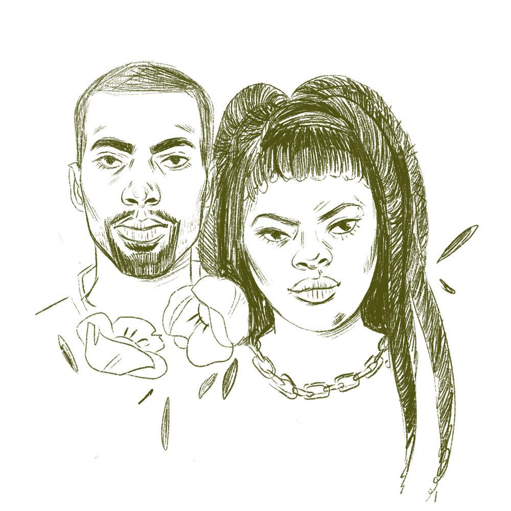 Johnetta Elzie & Deray McKesson ,Illustration /  Grace Stamps