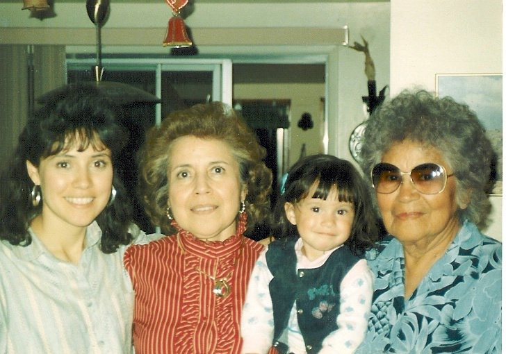 A picture of Jeannie, her daughter, mother, and grandmother.