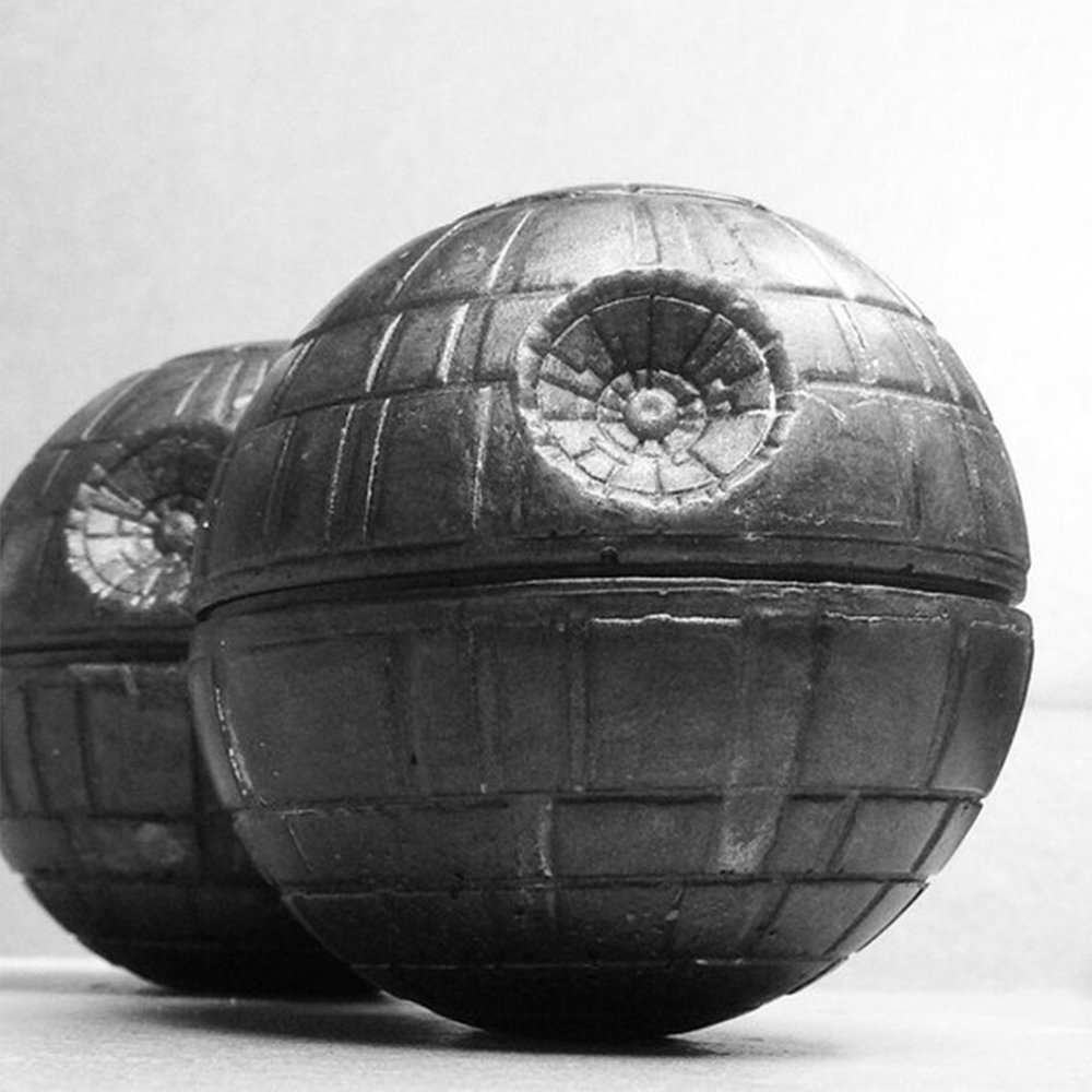 + Death Star Soap - Because everyone has to wash their hands, and why not do it with whatever-the-death-star is?(Image via Amethystsoap on Etsy)