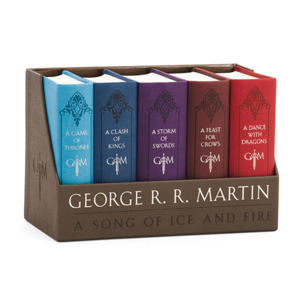 + Game of Thrones leather bound book set - Maybe your partner hasn't read the books or needs a nice copy of them? Here's the perfect set to get them started.(Image via TJ Maxx)
