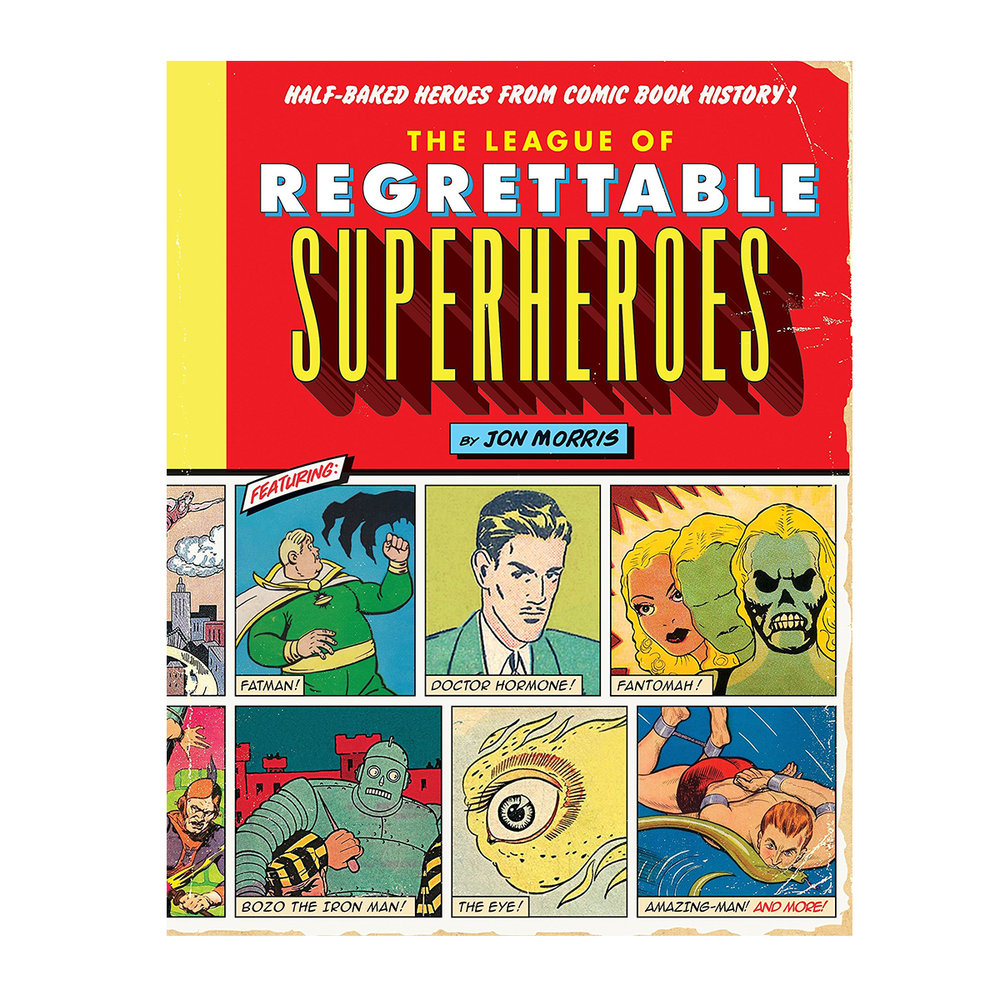 + This super silly book of regrettable superheroes - I just showed the cover of this book to my boyfriend and he launched into a discussion with me about the superheroes on the cover…more like a monologue as I had no idea who any of them were. Nonetheless, this book even peaked my interest, which is saying something. Seems a great gift for anyone with a vague appreciation of supers.(Image via Amazon)