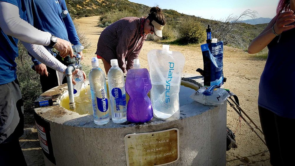 Hikers gathering water on the PCT. Photo by: Malin Klingsell