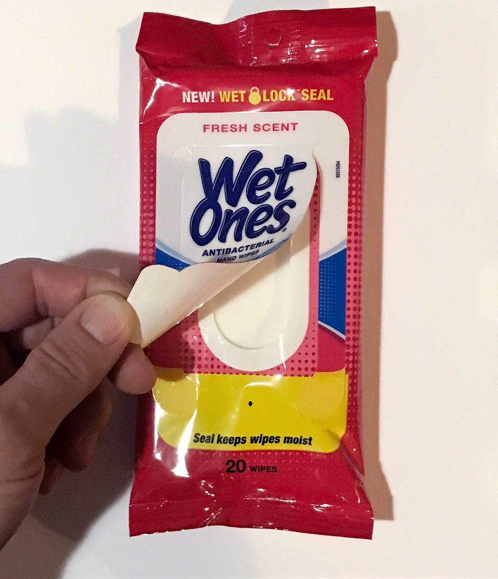 They're not biodegradable, closure mechanism keeps the wipes wet for several weeks.