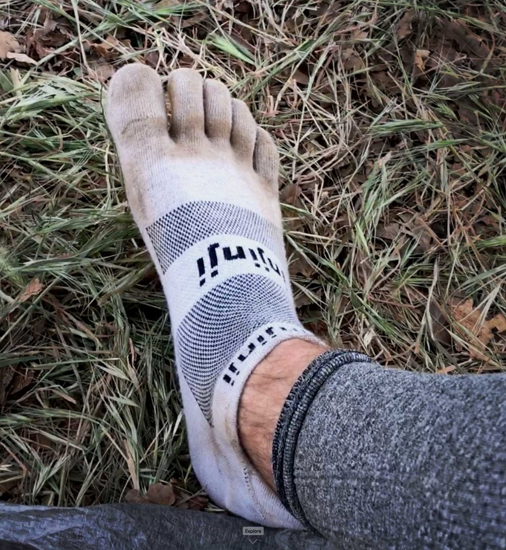Injinji toe socks make great liner socks. Each toe has its own friction-free tube of polyester smoothness to prevent blisters from forming bey