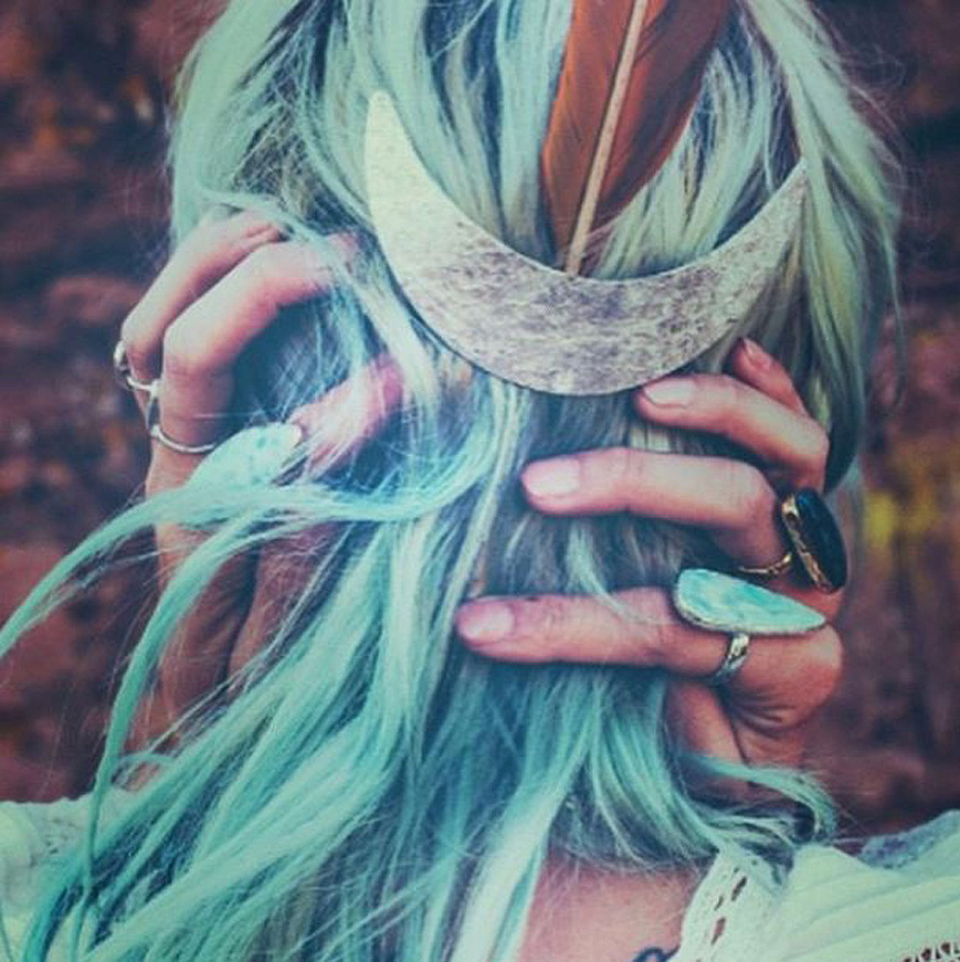 MERMAID HAIR Styling #MERMIAD #LOVE #MOODBOARD #INSPO #TURQUIOSE #JADE #METALLIC #FEATHERS