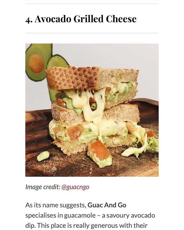 Thanks @eatbooksg for adding us in your Top 10 Avocado Dishes To Try!