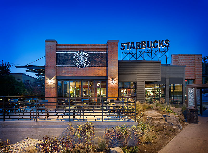 Front exterior of Starbucks Olive Way Store