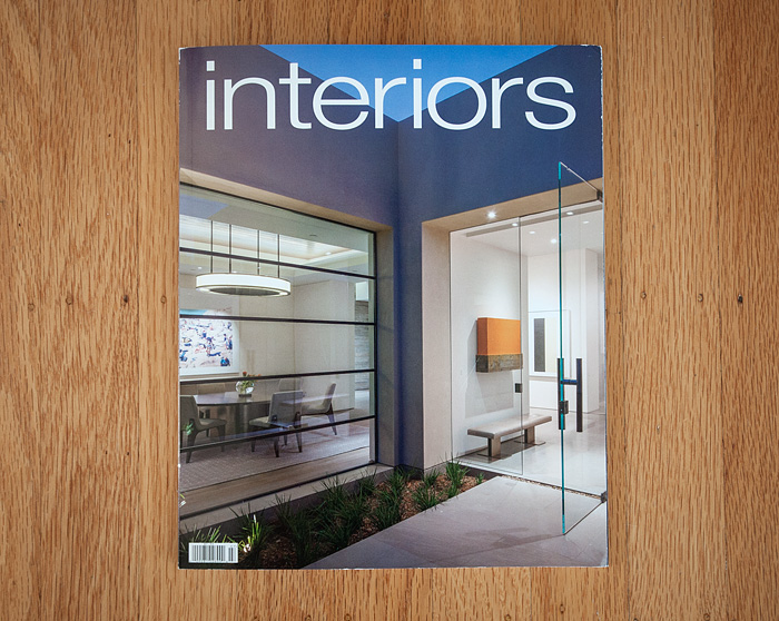 The Cover Story Of The New June/July 2015 Issue Of Interiors Magazine  Features A Gorgeous Home In La Jolla, CA I Photographed For Lucas Design  Associates, ...