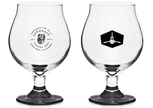 BRANDED GLASSWARE TO KEEP TO COMMEMORATE THE EVENT