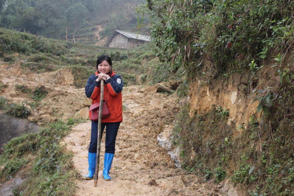 Ms. Ngoc Anh trekking in Sapa