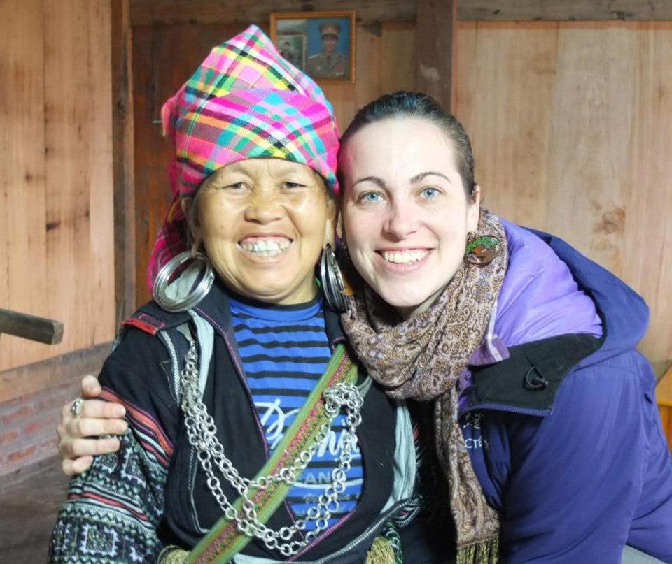 Rachel with Ms. Di in Lao Chai