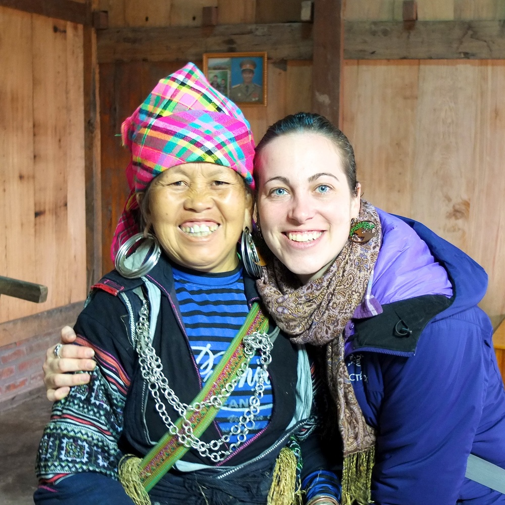 Rachael with Ms. Di in Lao Chai
