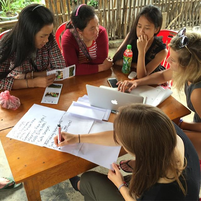 What does CBT Vietnam do? We work together with communities to create solutions related to #tourism, #entrepreneurship and #sustainability. Here our #CapilanoU students work along side some of the Homestay owners and local guides to make a list of potential local, private sector partners.